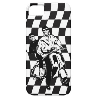 Retro style check scooter boy and girl iPhone 5 covers