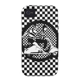 Retro style check scooter couple vibe iPhone 4 cover