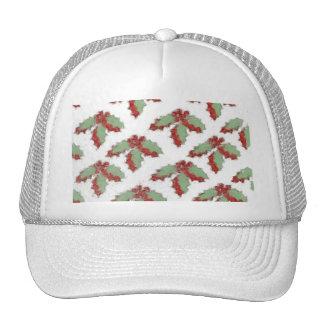 Retro Style Christmas Holly Trucker Hat