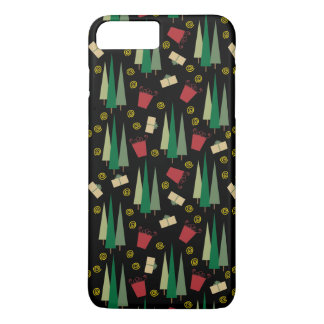 Retro Style Christmas Tree and Gifts Pattern iPhone 8 Plus/7 Plus Case