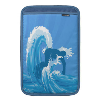 Retro style cool surfer art MacBook air sleeve
