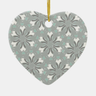 Retro Style Customizable Wedding Pattern Ceramic Ornament