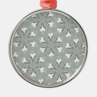 Retro Style Customizable Wedding Pattern Metal Ornament