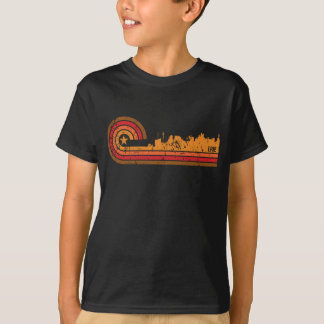 Retro Style Erie Pennsylvania Skyline Distressed T-Shirt
