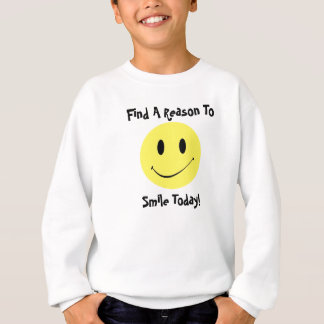 Retro Style Everything Anything w/ A Smiley Face Sweatshirt