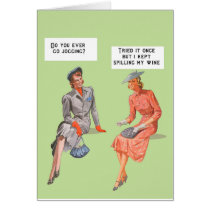 Retro style female humour card