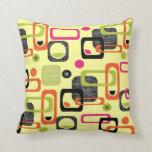 Retro Style Geometric Fabric Print Pillow