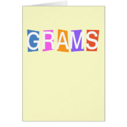 Greeting Card with Retro Grams design