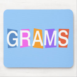 Mousepad with Retro Grams design