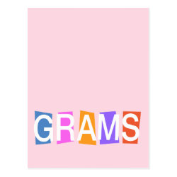 Postcard with Retro Grams design