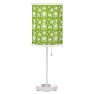 Retro Style Green Polka Dots Desk Lamp