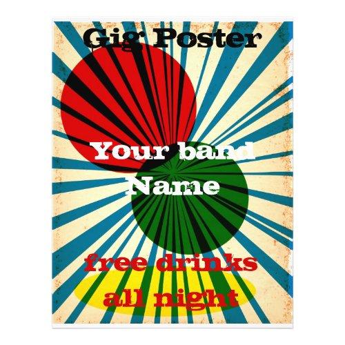 Retro Style grunge poster flyer