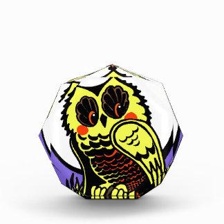Retro Style Halloween Owl Acrylic Award