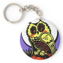 Retro Style Halloween Owl Keychain