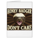 Retro Style Honey Badger Don't Care Greeting Card