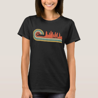 Retro Style Houston Texas Skyline T-Shirt