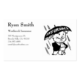 Retro Style Insurance Business Cards