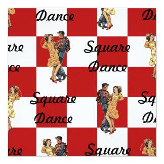 Retro Style Invitation Red White Checked Sq Dance