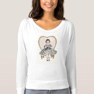 Retro Style Knitting T-shirt
