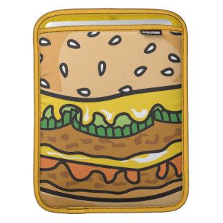 retro style loaded cheeseburger graphic iPad sleeves