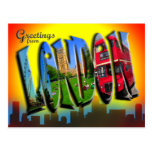 Retro Style London Postcard