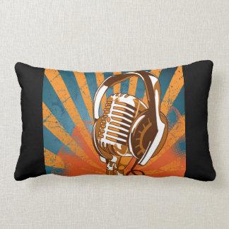 Retro Style Microphone Lumbar Pillow
