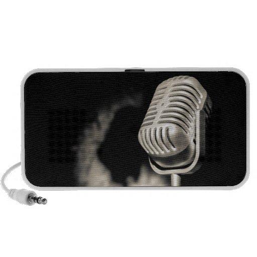 Retro Style Microphone Speaker System