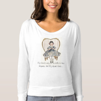 Retro Style My Hands Heart Knitting T-shirt