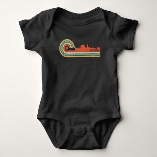 Retro Style New London Connecticut Skyline Baby Bodysuit