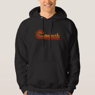 Retro Style New Rochelle New York Skyline Distress Hoodie
