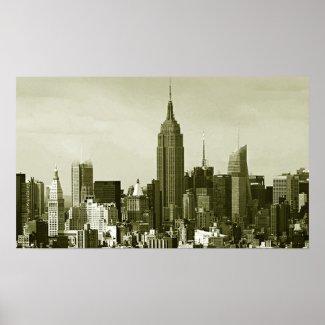 Retro Style New York City Poster