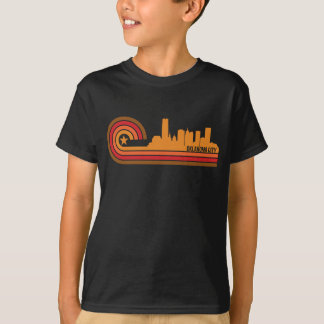 Retro Style Oklahoma City Oklahoma Skyline T-Shirt