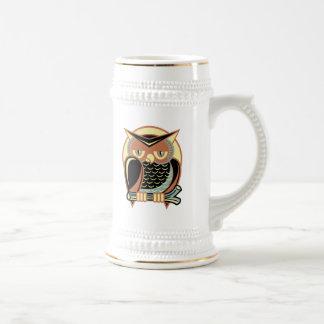 Retro Style Owl 18 Oz Beer Stein
