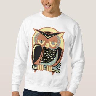 Retro Style Owl Pull Over Sweatshirts