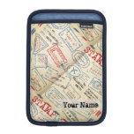 Retro Style Passport Stamps Personalized Gift iPad Mini Sleeves