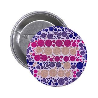 Retro Style Pattern Bling Dots Pinback Button