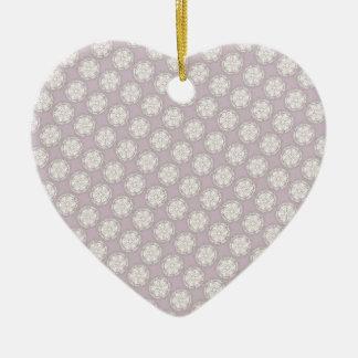 Retro Style Pattern - Custom Wedding Supplies Ceramic Ornament
