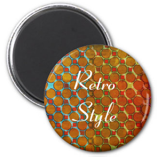 Retro Style Pattern of Orange Dots Magnet