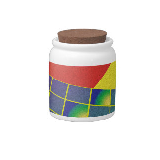 Retro style perspective candy jar