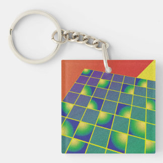 Retro style perspective keychain