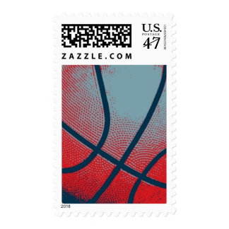 Retro Style Pop Art Basketball Motivational Postage