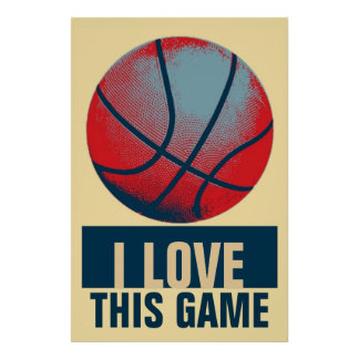 Retro Style Pop Art Basketball Motivational Poster