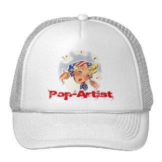 Retro Style Pop-artist Firecrackers Celebrate 4th Trucker Hat