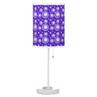 Retro Style Purple Polka Dots Table Lamp