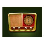retro style radio post cards