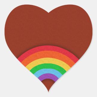 Retro Style Rainbow Heart Sticker