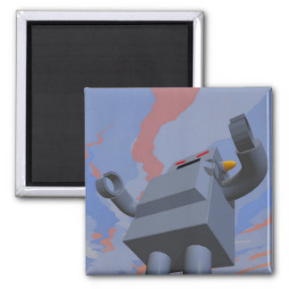 Retro Style Robot 2 Magnet