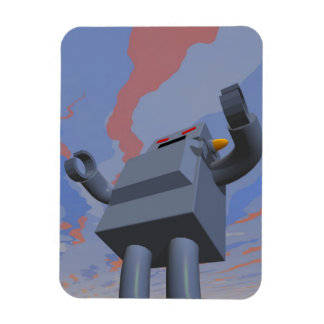 Retro Style Robot 2 Premium Flexi Magnet