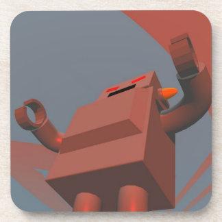 Retro Style Robot 3 Cork Coaster