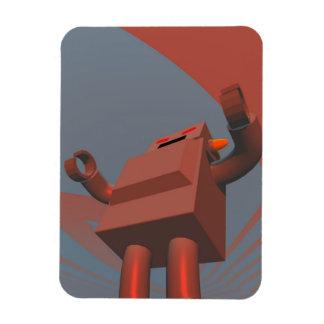 Retro Style Robot 3 Premium Flexi Magnet
